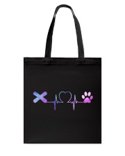 Snowboarding Dog Heartbeat Tote Bag front