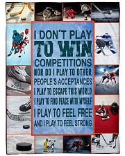 """Hockey Funny I Don't Play To Win Graphic Design Large Fleece Blanket - 60"""" x 80"""" front"""
