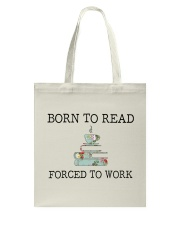 Books Born To Read Tote Bag front
