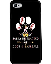 Easily Distracted By Dogs And Baseball Phone Case thumbnail