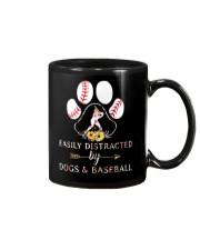 Easily Distracted By Dogs And Baseball Mug thumbnail