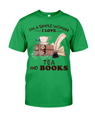 Books Tea I'm A Simple Woman