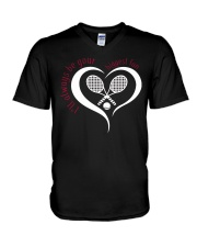 Always Be Your Biggest Tennis Fan  V-Neck T-Shirt thumbnail