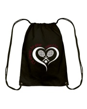 Always Be Your Biggest Tennis Fan  Drawstring Bag thumbnail