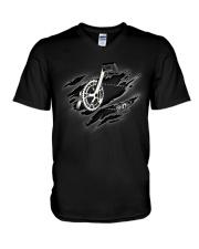 CYCLING  INSIDE ME V-Neck T-Shirt thumbnail