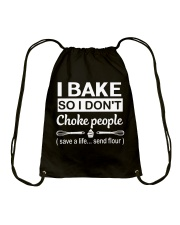 I bake Drawstring Bag thumbnail