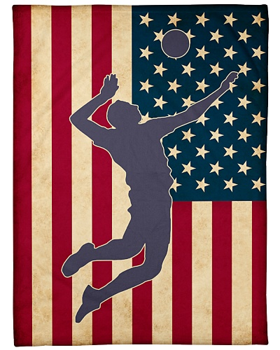 Volleyball Funny Blanket Flag US Graphic Design