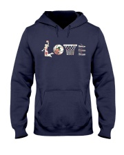 Basketball Love Flower Hooded Sweatshirt thumbnail