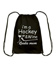 Im A Hockey And Wine Drawstring Bag thumbnail