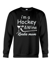 Im A Hockey And Wine Crewneck Sweatshirt thumbnail