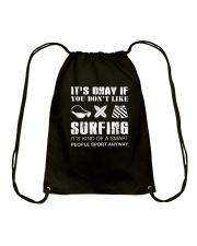 Surfing Sport Away Drawstring Bag thumbnail