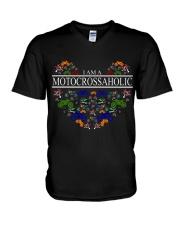 motocross - motocrossaholic V-Neck T-Shirt thumbnail