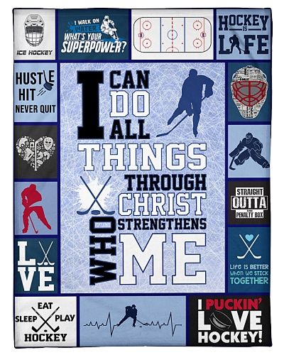 Hockey Funny I Can Do All Things Graphic Design