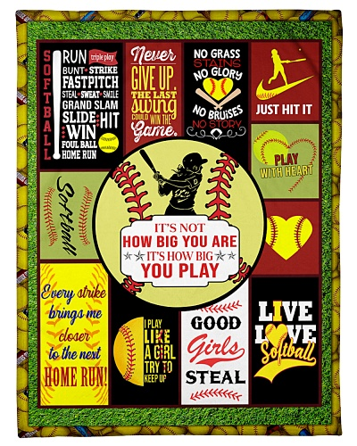 Softball It's Not How Big You Are Graphic Design