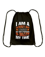 I AM A BASKETBALL MOM Drawstring Bag thumbnail