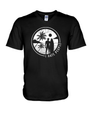 Surfing Men Hate People V-Neck T-Shirt thumbnail