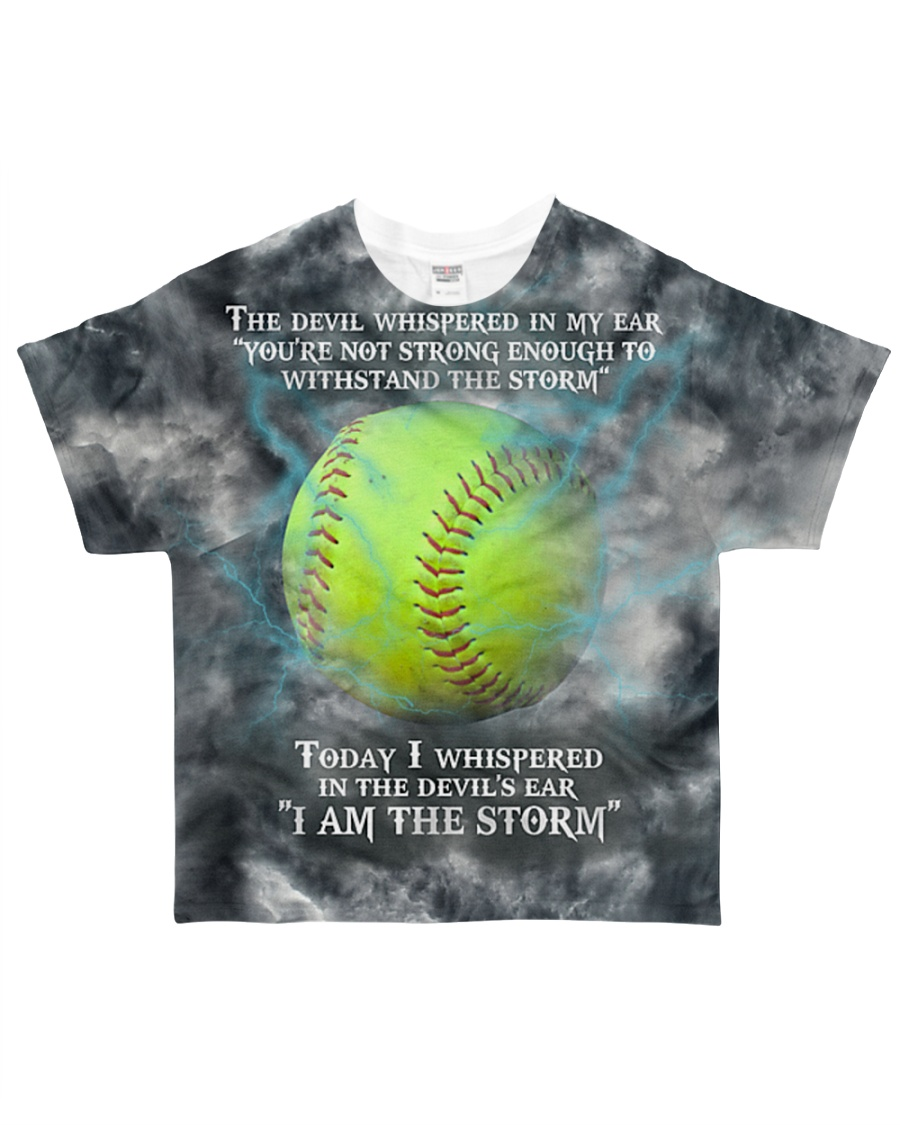 Softball I Am The Storm All-over T-Shirt showcase