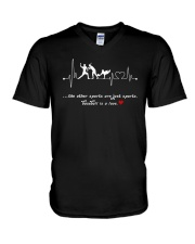 Baseball is a love V-Neck T-Shirt tile