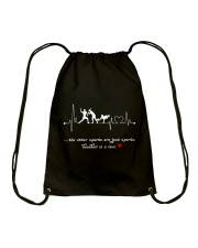 Baseball is a love Drawstring Bag thumbnail