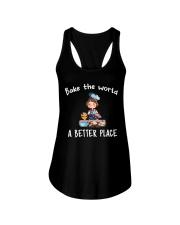 bake the world Ladies Flowy Tank thumbnail