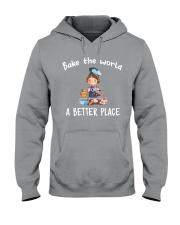 bake the world Hooded Sweatshirt front