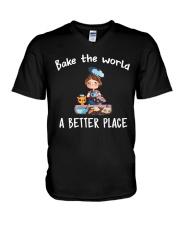 bake the world V-Neck T-Shirt thumbnail