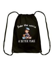 bake the world Drawstring Bag thumbnail