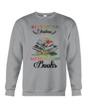 I Want Books Crewneck Sweatshirt thumbnail