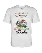 I Want Books V-Neck T-Shirt thumbnail