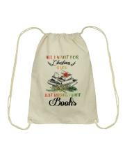 I Want Books Drawstring Bag thumbnail