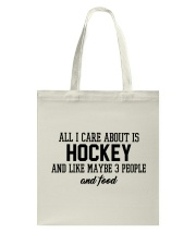 Hockey And Like Maybe 3 People Tote Bag thumbnail