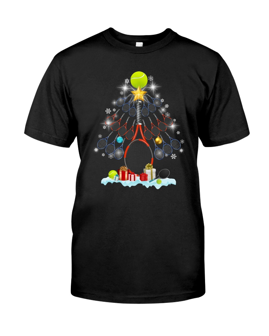 Tennis Christmas Tree Classic T-Shirt
