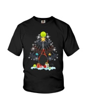 Tennis Christmas Tree Youth T-Shirt tile