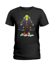 Tennis Christmas Tree Ladies T-Shirt thumbnail