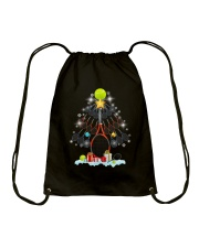 Tennis Christmas Tree Drawstring Bag thumbnail