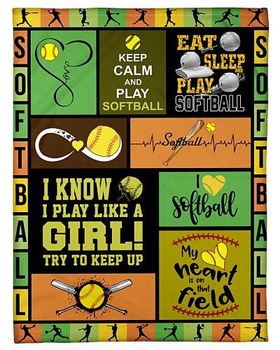 Softball I Know I Play Like A Girl Graphic Design