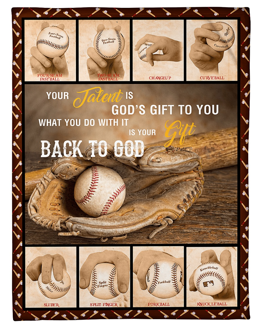 """Baseball Funny Your Talent Graphic Design Small Fleece Blanket - 30"""" x 40"""""""