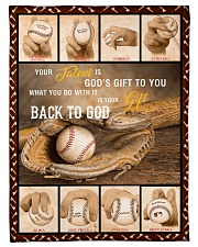 """Baseball Funny Your Talent Graphic Design Small Fleece Blanket - 30"""" x 40"""" front"""