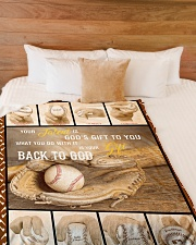 """Baseball Funny Your Talent Graphic Design Large Fleece Blanket - 60"""" x 80"""" aos-coral-fleece-blanket-60x80-lifestyle-front-02"""