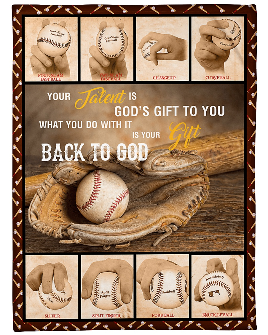 "Baseball Funny Your Talent Graphic Design Large Fleece Blanket - 60"" x 80"""