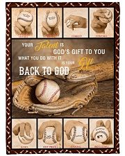 """Baseball Funny Your Talent Graphic Design Large Fleece Blanket - 60"""" x 80"""" front"""