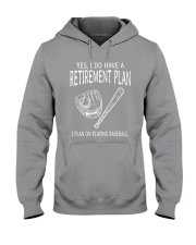 I Plan On Playing Baseball Hooded Sweatshirt thumbnail