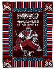 "Hockey Behind Every Good Goalie Graphic Design Small Fleece Blanket - 30"" x 40"" front"