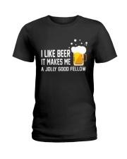 I Like Beer  Ladies T-Shirt thumbnail