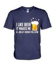 I Like Beer  V-Neck T-Shirt thumbnail