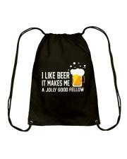 I Like Beer  Drawstring Bag thumbnail