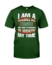 I AM A BASEBALL DAD Classic T-Shirt front