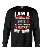 I AM A BASEBALL DAD Crewneck Sweatshirt thumbnail
