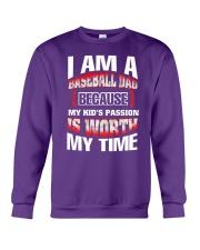 I AM A BASEBALL DAD Crewneck Sweatshirt front