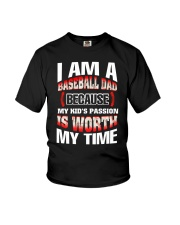 I AM A BASEBALL DAD Youth T-Shirt thumbnail